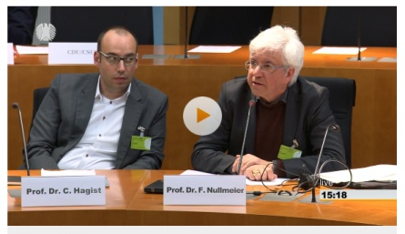Prof Dr Frank Nullmeier at the Bundestag Committee for Labour and Social Affairs